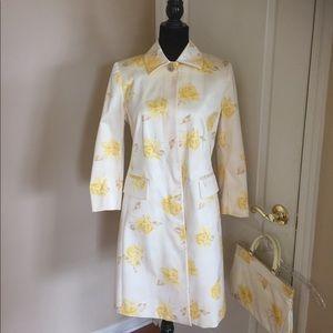 Banana Republic Yellow /Cream Trench Coat w/purse